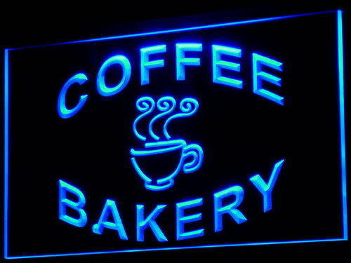 Bakery Coffee Shop Cup Display Neon Light Sign